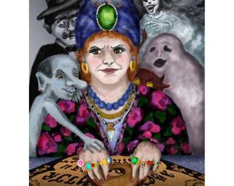 Madame Lovina's Haunted Talking Board Print