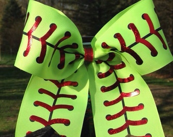 Softball Bow/team bow/fastpitch bow/softball/cheer bow/team bows/fastpitch