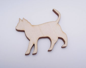 Wooden Cat Shape for Crafts - Laser Cut - Cat Lover Gift - Blank Cat - Cat Shape