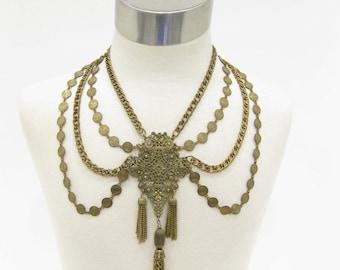 Vintage Multi-Strand Festoon Style Necklace