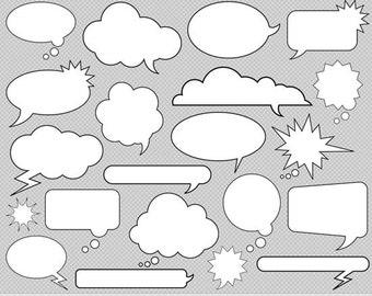 Speech Bubble Clipart Comic Clipart Chat Bubble Clipart Text Bubble Clipart Superhero Clipart Chat Clipart Text Balloon Clipart Text Clouds