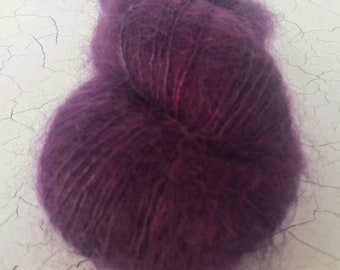 Myrtle Lace/2ply Mohair/Silk 'Battle of Magenta'