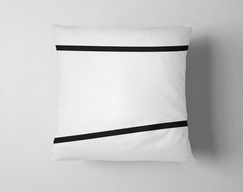 Black and white  stripes throw pillow