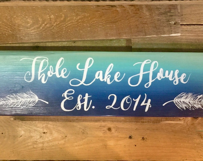 Ombre Lake Sign