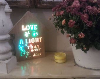 Love is light sign
