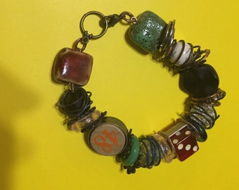Mixed metals nostalgia bracelet