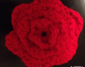 Crocheted Flower Hair Clips - Flower #5