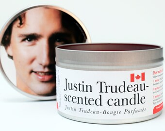 Justin Trudeau Scented Candle | Funny Sister Gift | Funny Girlfriend Gift | Canada Gift | Funny Mom Gift