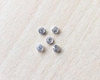 Swarovski rhinestone flat back silver 4 mm