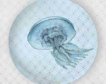 Jellyfish blue plate