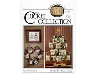 Advent Calendar Christmas Cross Stitch Leaflet, Christmas Ornaments, Christmas Decorations, , Christmas Patterns, Santas Cross Stitch