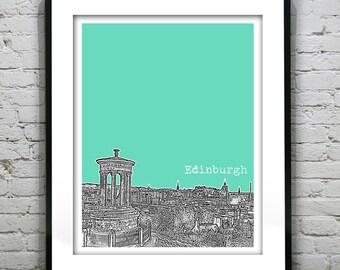 20% OFF Memorial Day Sale - Edinburgh Poster Scotland Print Art Calton Hill Version 2