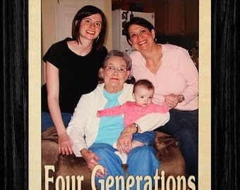 8x10 GENERATIONS PORTRAIT Picture Frame  ~  Three Generations, Four Generations or Five Generations Family Keepsake Frame Grandparents Gift