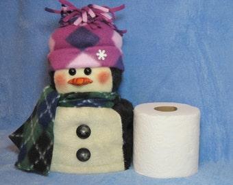"""Penguin pattern:  """"Penguin Toilet Paper Roll Cover"""" - #457"""