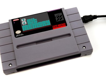 Custom Label SNES Hard Drive - Your Custom Label! Any image, any game! USB 3.0