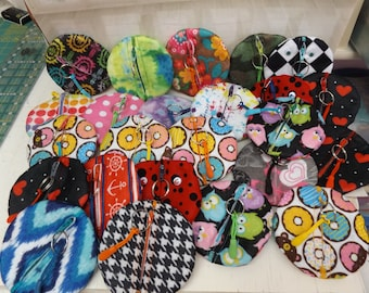 NEW EARBUD POUCHES, w/key chain/clip, Great Stocking Stuffers, Handmade!