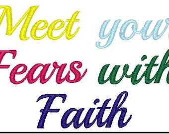 Meet your fears with faith