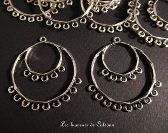10 connectors for Eastern silver-plated earrings