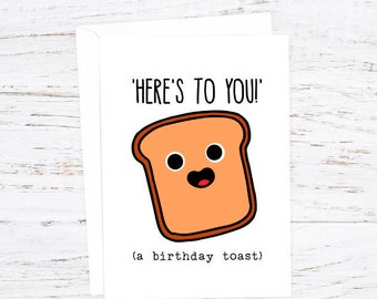 Here's to you (a birthday toast) - Birthday  Card - Events - A6 - Happy Birthday