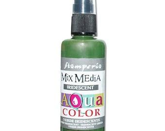 Iridescent green Aquacolor in spray bottle