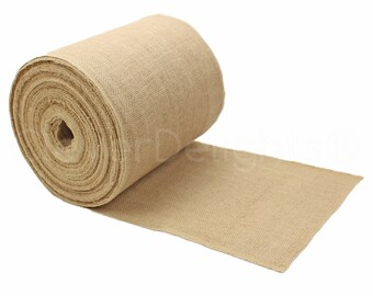 """50 Yards - 9"""" Premium Burlap Roll - Finished Edges - Eco-Friendly Natural Jute Burlap Fabric - For 9 Inch Table Runners & Rustic Decor"""