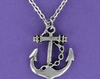 ANCHOR CHARM on Adjustable Chain 18-20 inches Large
