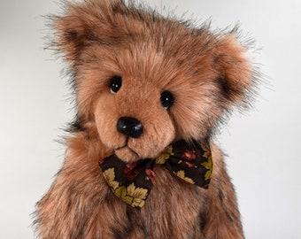 Shilo – Handmade Teddy Bear, Artist Bear, Stuffed Animal, Faux Fur, Toy, OOAK, Made In Alaska