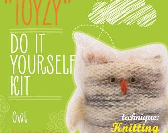 Tz-K002 Toyzy Kit «Owl» - Technique Knitting