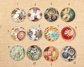 Glass, Vintage Collection, 12mm earrings