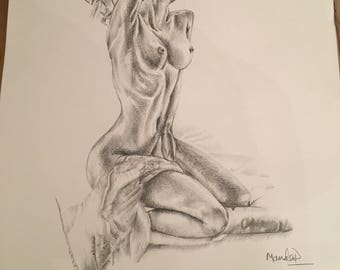 naked lady with towel