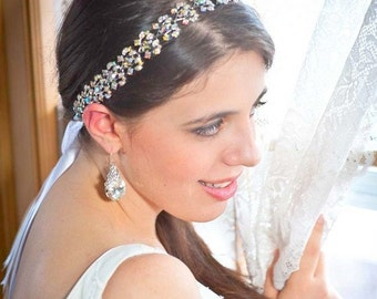 Crystal Headband - Rainbow Headband - AB Headband - Bridal Headband - Prom Headband - Bridal Tiara - Wedding Headpiece - Prom - Collette