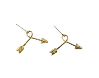 Lost and Found Earrings, Arrow Earrings, Bent Arrow Earrings, Broken Arrow Earrings, Unique Earrings, Dangle Earrings, Unique Earrings