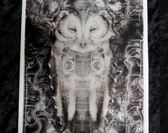 Owl wisdom -Sticker / collectable Sticker / Psy / Visionary Art / Sacred geometry / Festival Art / Trippy / Aya / Dmt / Visions / Dreams