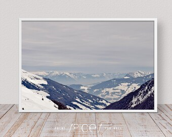 Winter Tree Wall Art, Snow Print, Winter Forest, Winter Landscape, Mountain, Living Room Decor, Landscape, Nature Photography, White, Hotel