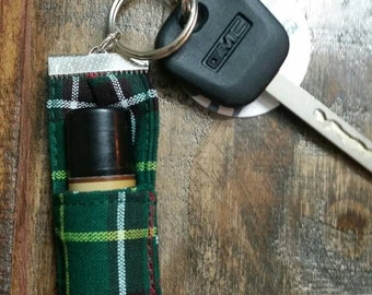 Key Fob Lip Balm Holder Keychain Chapstick Holder