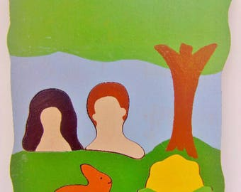 Adam and Eve Shaped Puzzle