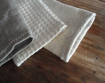 natural SOAP BAG handmade from natural linen, wild silk or organic cotton