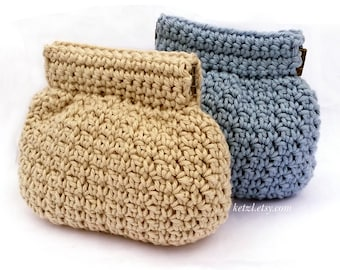 Purse crochet pattern coin purse pouch small squeeze frame flex frame pinch purse cute crochet pattern