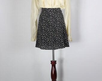 Ivory Silk Studded Collar Long-sleeve Blouse -- Sz Lrg