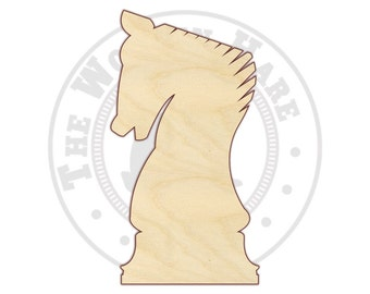 Chess - Chess Decor - Knight Chess Piece - Wood Shapes - 160101