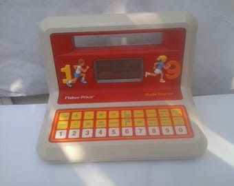 Vintage 1988 Math Starter Fisher Price Electronic education Learning Toy *WORKS*