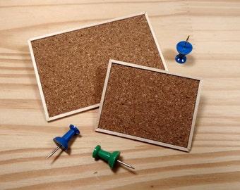 Miniature Dollhouse Cork Bulletin Board, 1:12 Scale