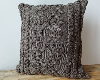 Grey cable cushion cover