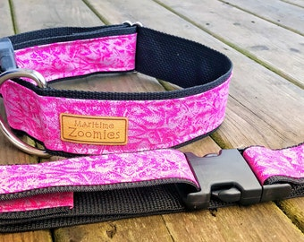 Pink Shimmery Dog Collar, Maritime, PEI
