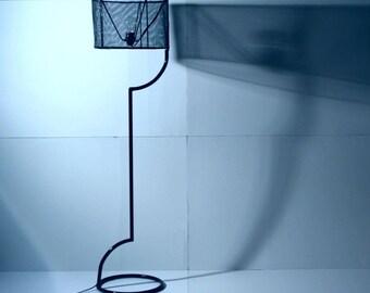 Steampunk floor lamp  // Steel floor lamp // Design lamp // Handmade floor lamp