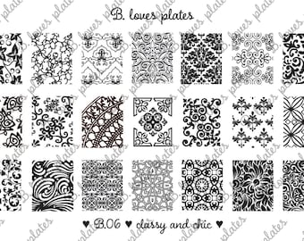 B.06 - classy and chic - nail stamping plates (B. Loves Plates )