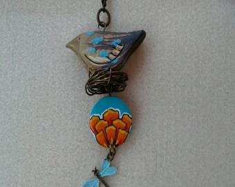 Nesting Bird necklace...