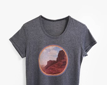 Vintage Graphic Tee • 70s Style Outdoor Desert Graphic T-Shirt • Womens 1970s Mountain Shirt • Bohemian Boho Landscape Tshirts • L415 & Co