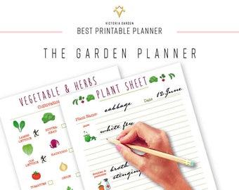 GARDEN PLANNER,  Garden Planning, Garden Organizing, Garden Journal, Garden Notebook, Vegetable, seed, gift gardener gardening journal,