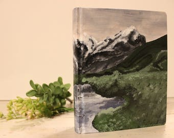"Hand Painted Bible// ""Valley"" Theme"